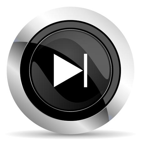 chrome: next icon, black chrome button
