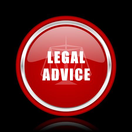 asesoria legal: asesoramiento jur�dico icono rojo brillante Web