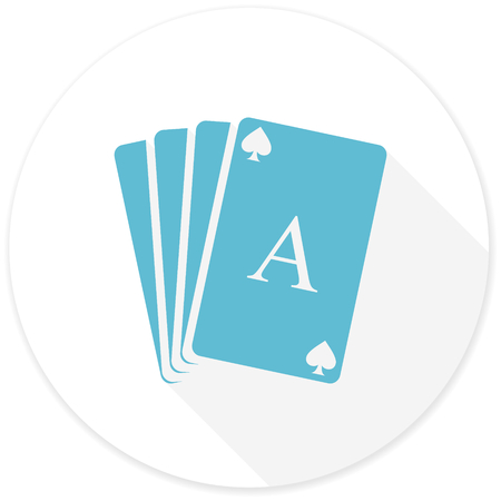 picto: card flat design modern icon with long shadow for web and mobile app Stock Photo