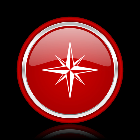 internet explorer: compass red glossy web icon