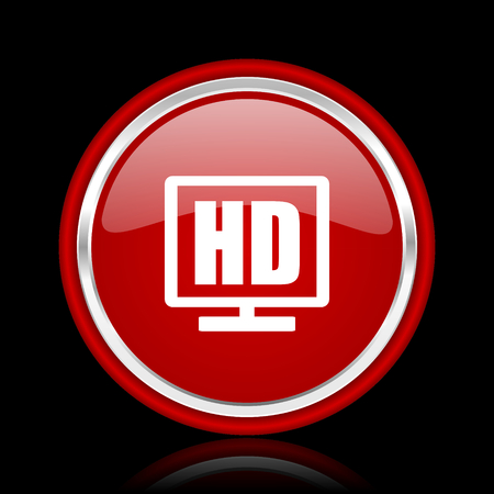 display: hd display red glossy web icon