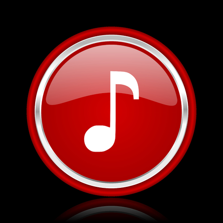 melodic: music red glossy web icon