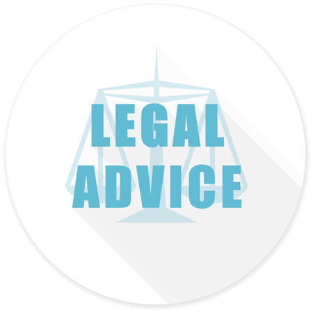 legal icon: legal advice flat design modern icon with long shadow for web and mobile app