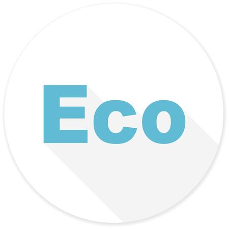 application recycle: eco flat design modern icon with long shadow for web and mobile app