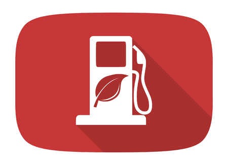agro: biofuel flat design modern icon with long shadow for web and mobile app