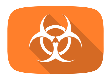 varez: biohazard flat design modern icon with long shadow for web and mobile app Stock Photo