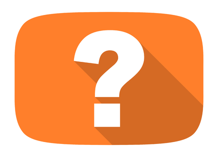 question: question mark flat design modern icon with long shadow for web and mobile app