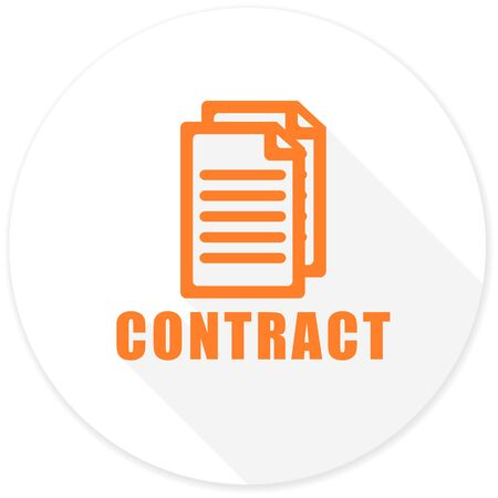 icom: contract flat design modern icon with long shadow for web and mobile app