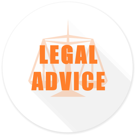 injustice: legal advice flat design modern icon with long shadow for web and mobile app