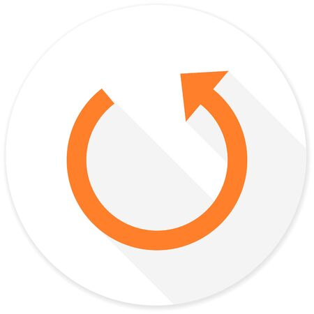 application recycle: rotate flat design modern icon with long shadow for web and mobile app