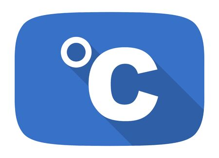 celsius flat design modern icon with long shadow for web and mobile app