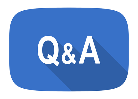 answer: question answer flat design modern icon with long shadow for web and mobile app
