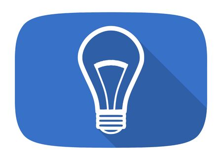 application recycle: bulb flat design modern icon with long shadow for web and mobile app