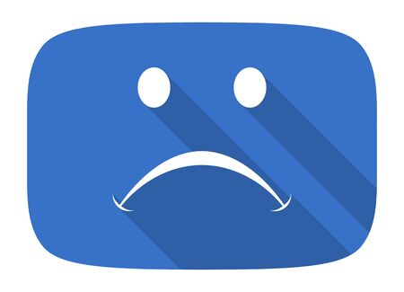 cry flat design modern icon with long shadow for web and mobile app Stock Photo