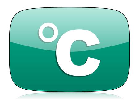 celcius: celsius green icon temperature unit sign