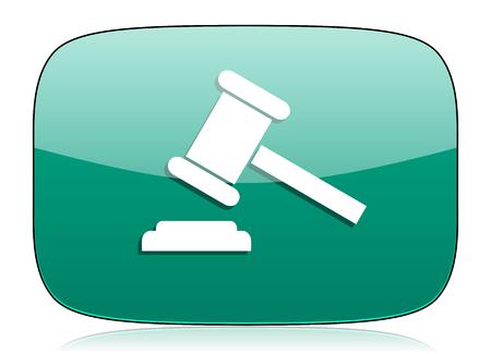 verdict: auction green icon court sign verdict symbol