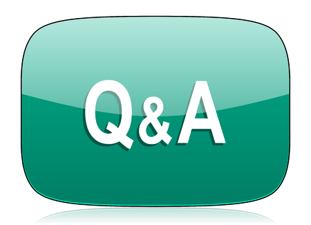 question and answer: question answer green icon
