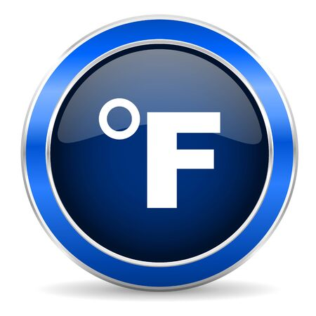 fahrenheit: fahrenheit icon temperature unit sign Stock Photo