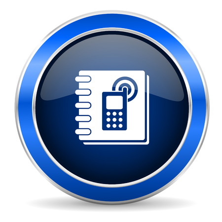phonebook: phonebook icon Stock Photo