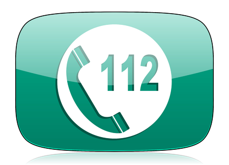 emergency call: emergency call green icon 112 call sign