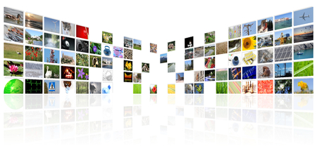 tv news media internet digital background