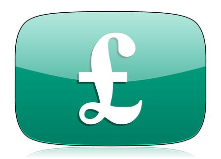 pound: pound green icon