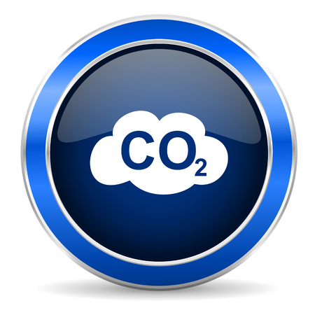 dioxido de carbono: carbon dioxide icon co2 sign