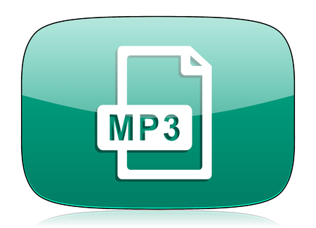 mp3: mp3 file green icon