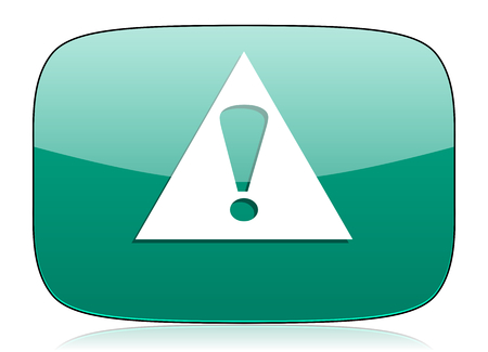 exclamation icon: exclamation sign green icon warning sign alert symbol