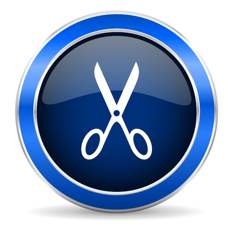 shampooing: scissors icon cut sign