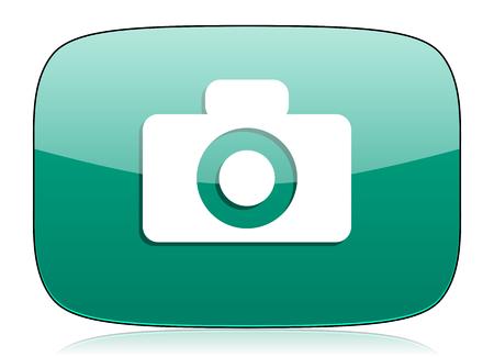 picto: camera green icon
