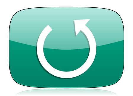 rotate icon: rotate green icon reload sign
