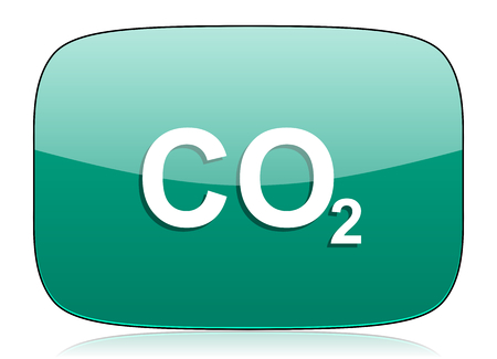 carbon dioxide: carbon dioxide green icon co2 sign