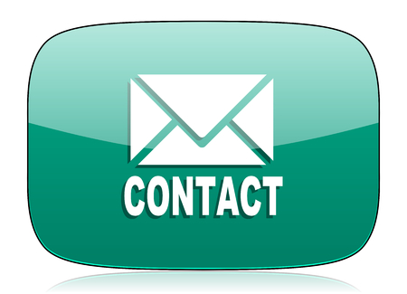 email contact: email green icon contact sign