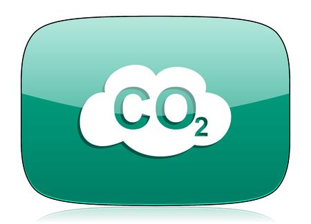 dioxide: carbon dioxide green icon co2 sign