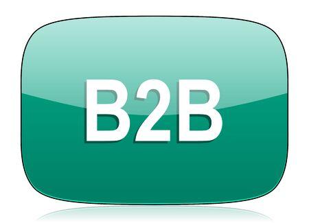 b2b: b2b icono verde