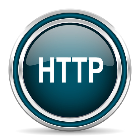 http: http blue glossy web icon Stock Photo
