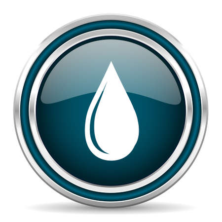 drinkable: water drop blue glossy web icon
