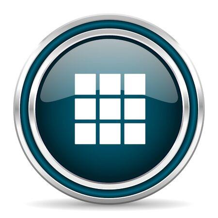 thumbnails: thumbnails grid blue glossy web icon