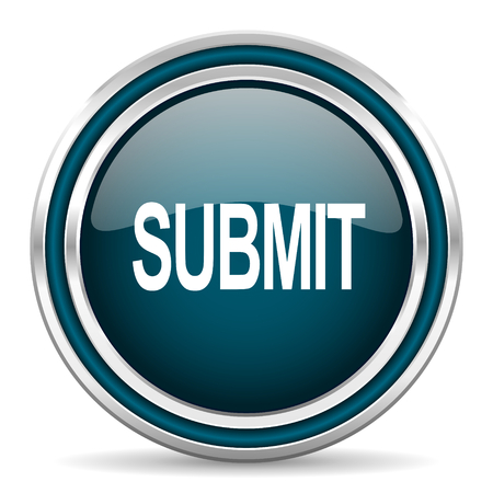 submit: submit blue glossy web icon Stock Photo