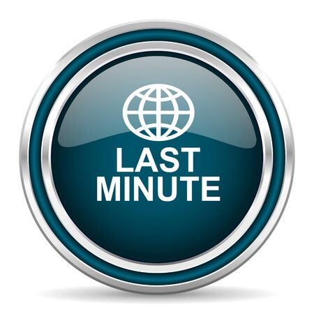 minute: last minute blue glossy web icon