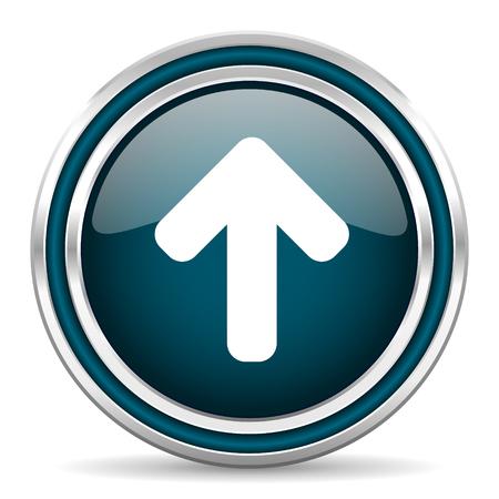 north arrow: up arrow blue glossy web icon