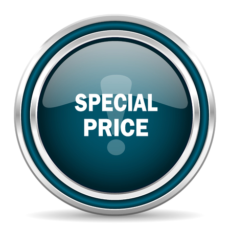 special price: special price blue glossy web icon Stock Photo
