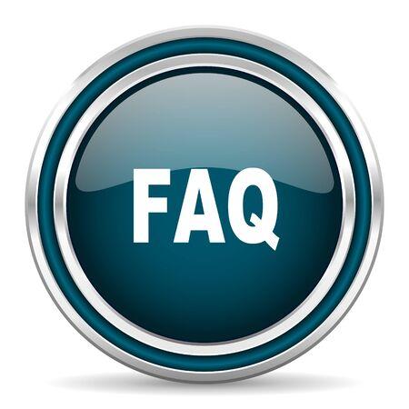 faq icon: faq blue glossy web icon