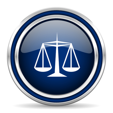 criminal act: justice blue glossy web icon Stock Photo