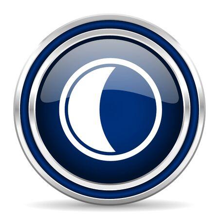 keys to heaven: moon blue glossy web icon Stock Photo