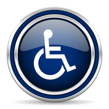 wheelchair access: wheelchair blue glossy web icon