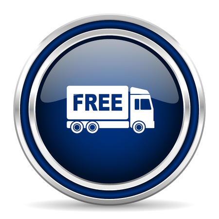 deliverance: free delivery blue glossy web icon