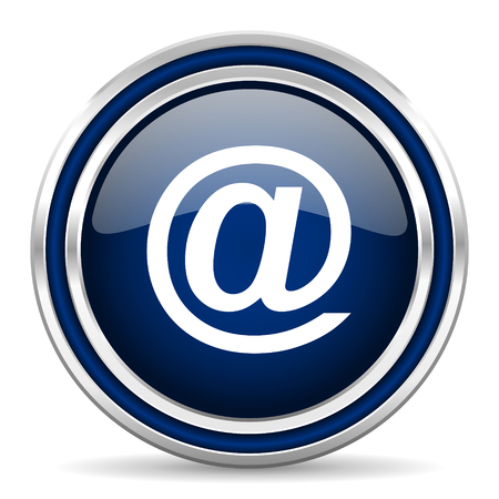 secretariat: email blue glossy web icon