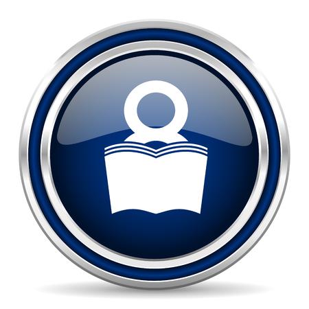 bibliophile: book blue glossy web icon
